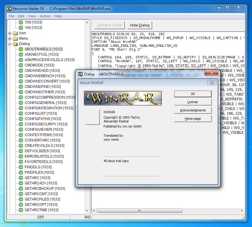 Resource Hacker FX resource editor