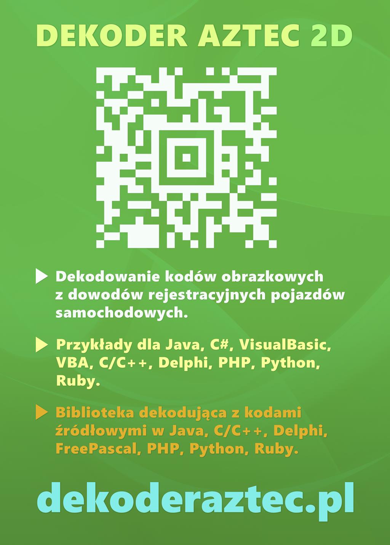 AZTec 2D Decoder Library — Ad Design