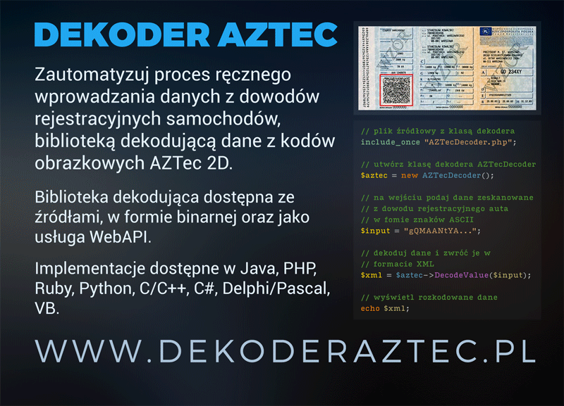 AZTec Decoder Dark Ad Design