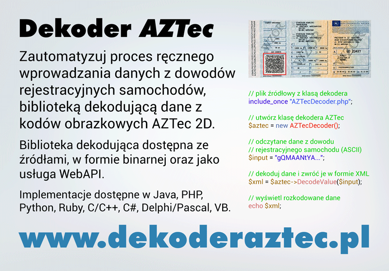 AZTec Decoder Light Ad Design