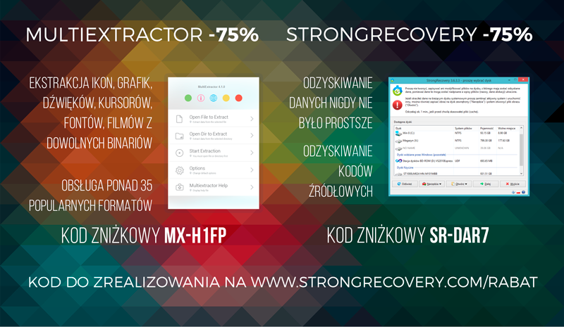 MultiExtractor and StrongRecovery Promo Ad Design