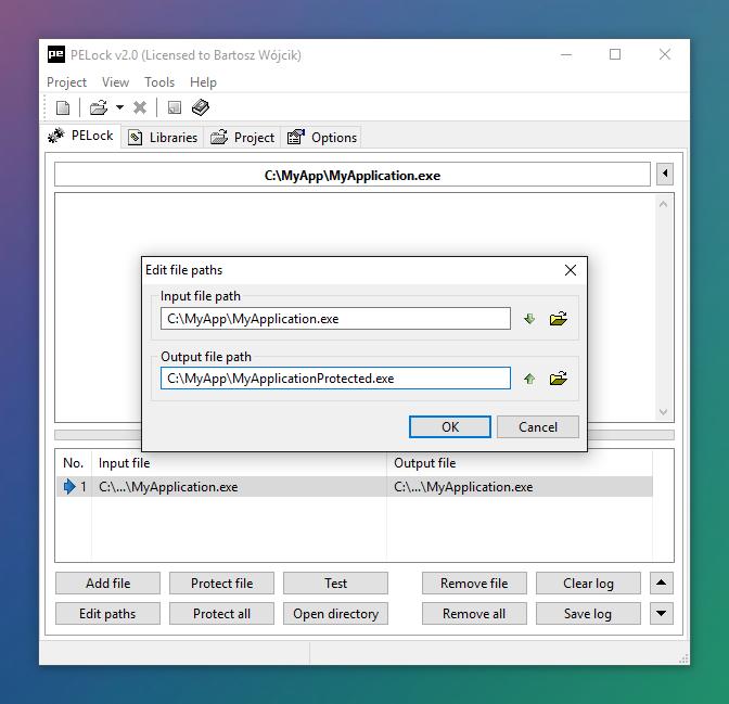 PELock Screenshots — Exe Protector for Windows Applications