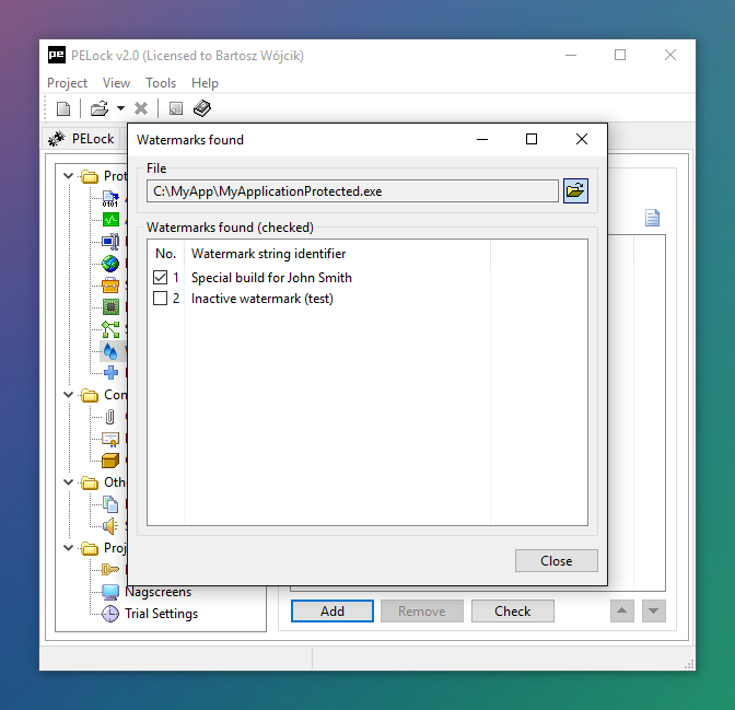 PELock Screenshots — Exe Protector for Windows Applications